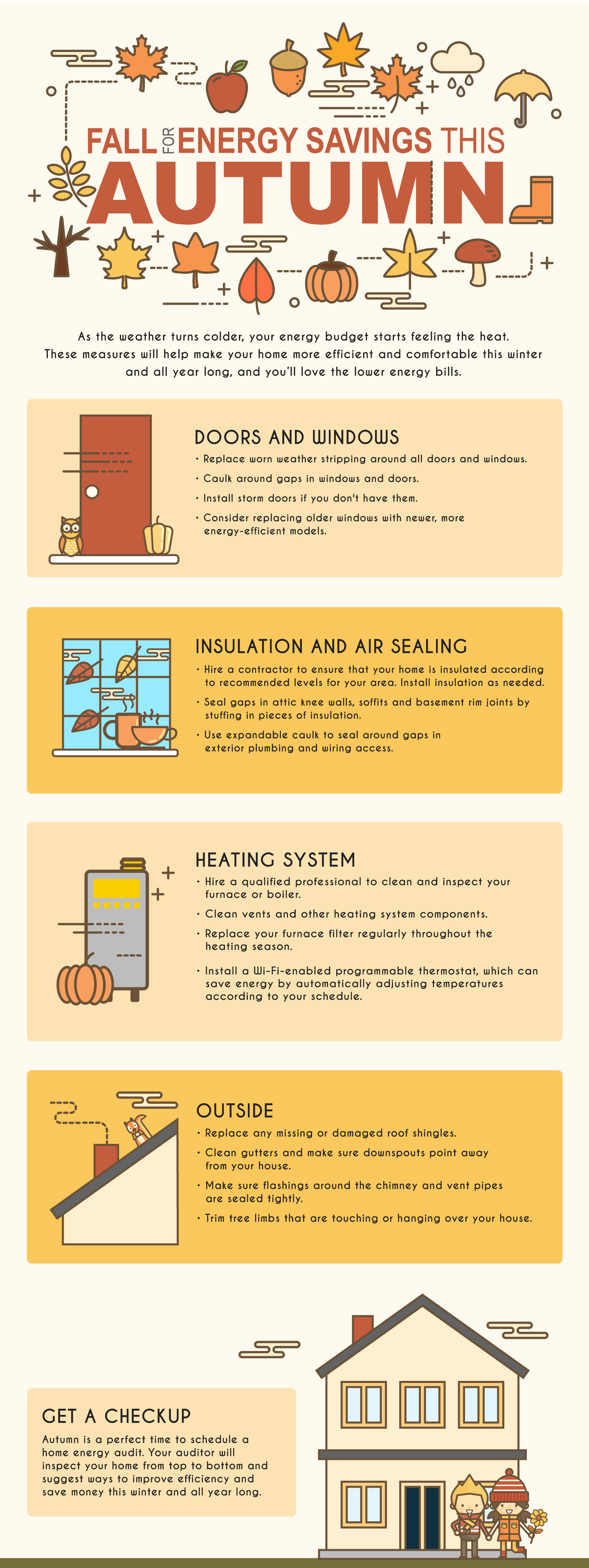 Fall for Energy Savings Infographic