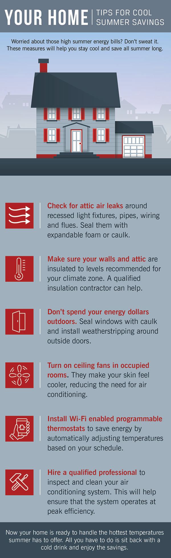 Home Tips For Summer Savings Infographic