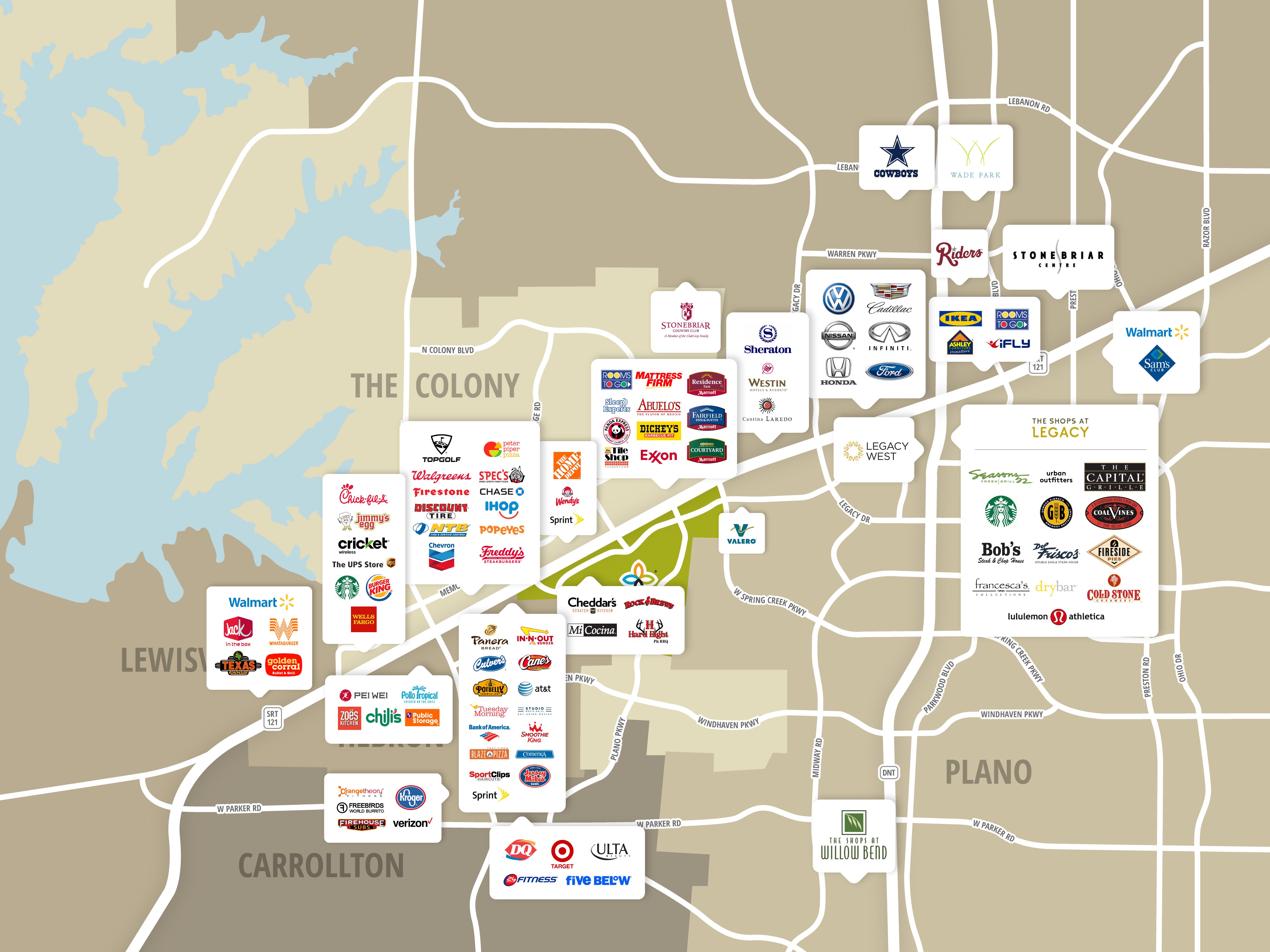 Map Of Dallas Area royals stadium map