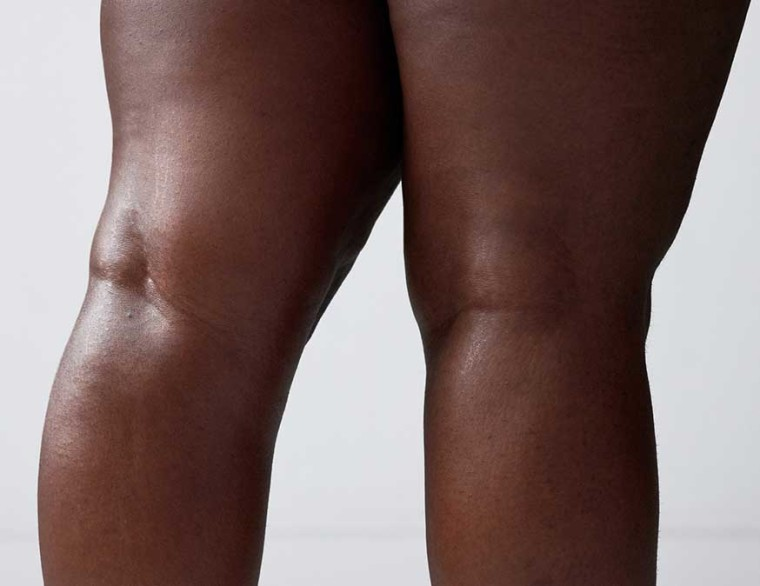 Close crop of the back of a woman's knees