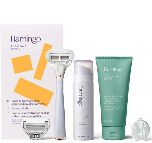 New - Flamingo Pubic Hair Wax Kit and Shave Set Bundle