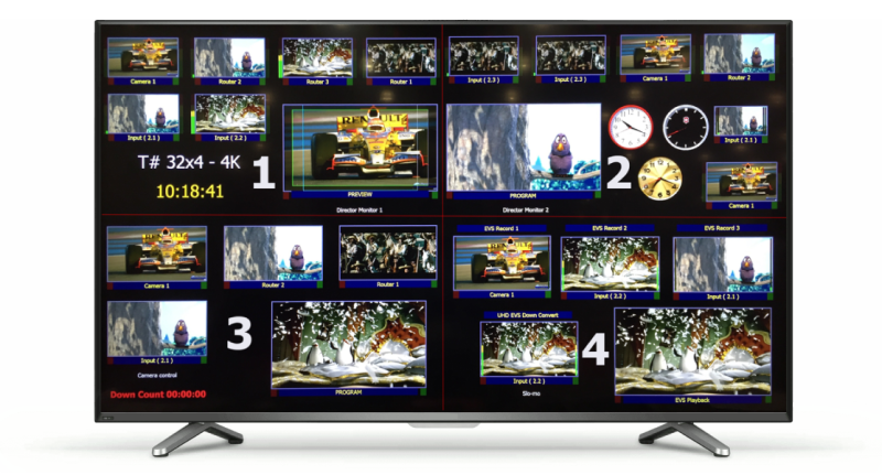 TAHOMA T# Multiviewers - Up to 12G Support On-Screen Elements