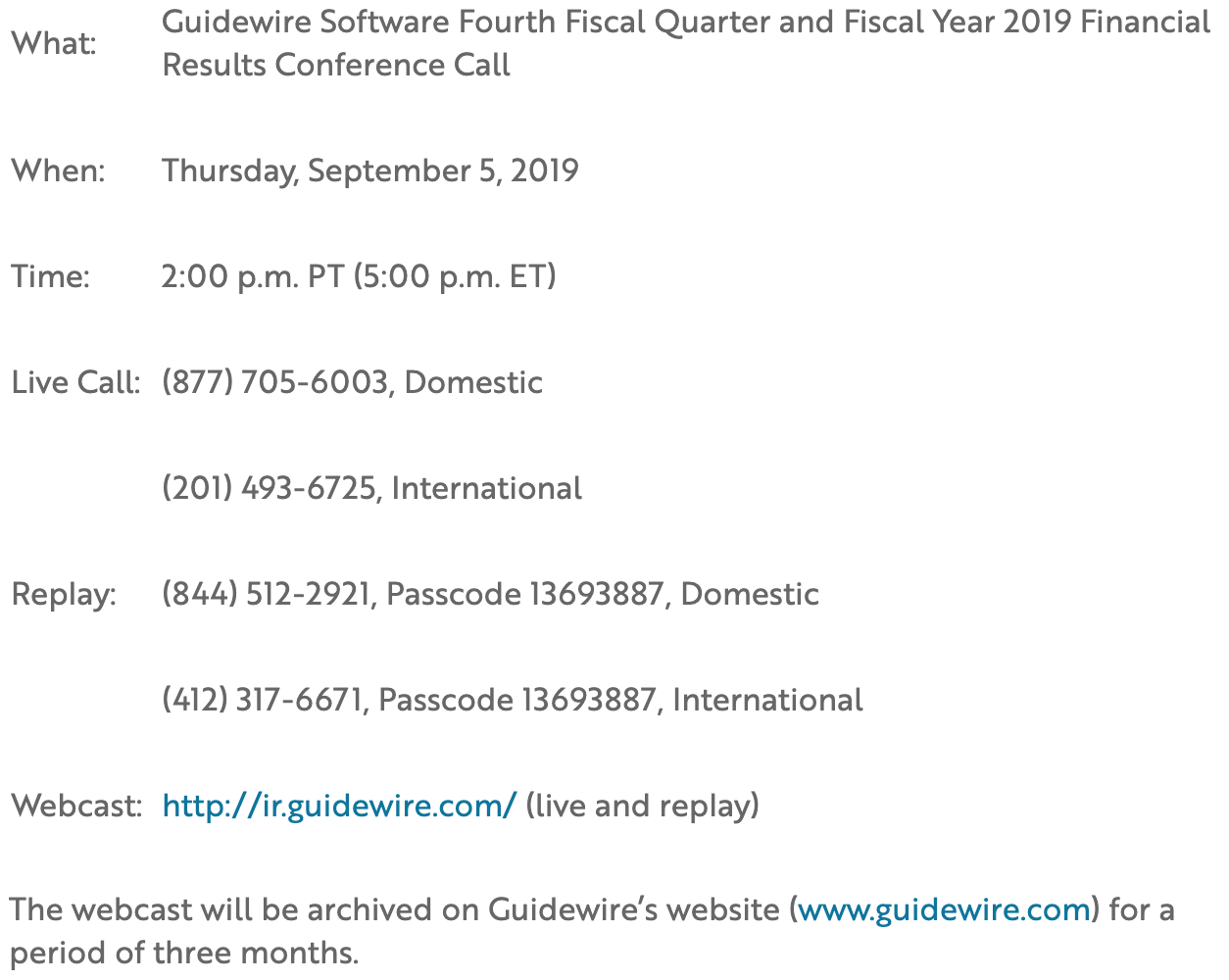 Fourth Fiscal Quarter and Fiscal Year 2019 Tab 2