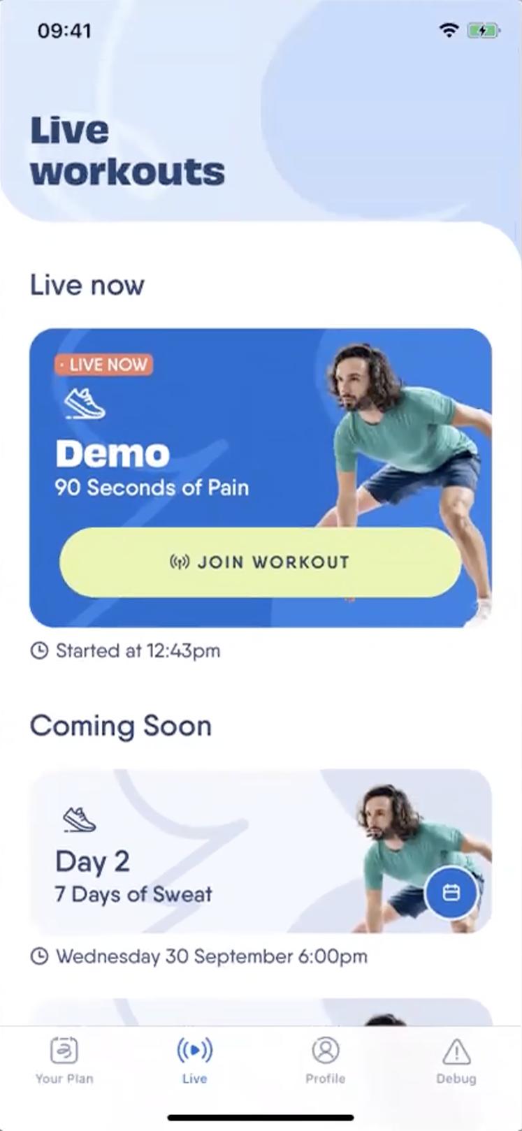 live workout demo