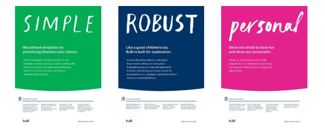 simple robust personal poster designs