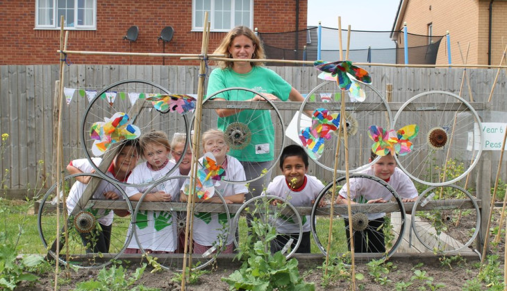Bulb hero: Jenny Hindson, manager of the Edible Playgrounds project