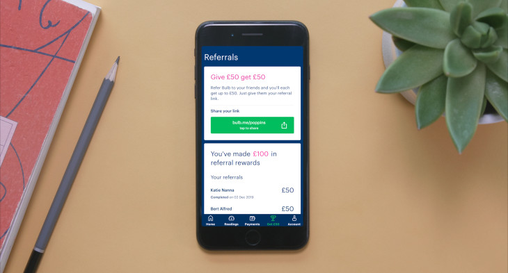 How to refer friends on the Bulb app