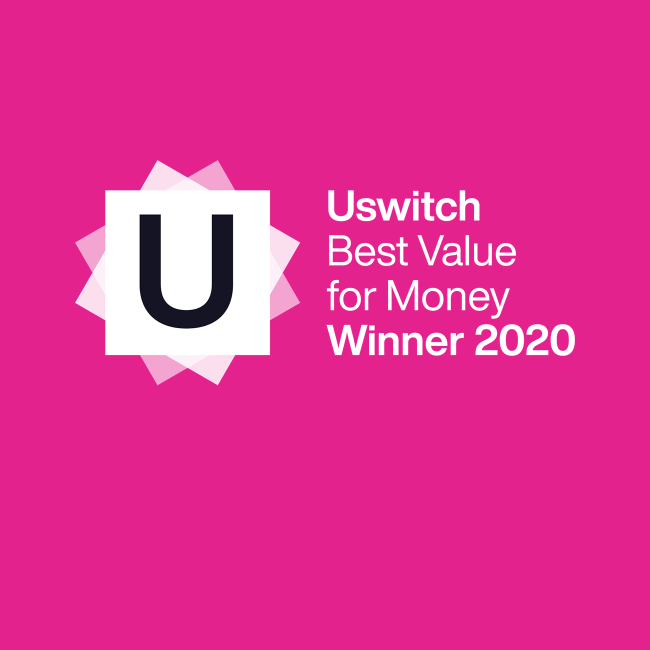 Uswitch Best Value for Money Winner 2020