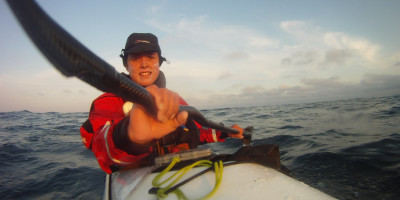 Sarah Outen rowing around the world