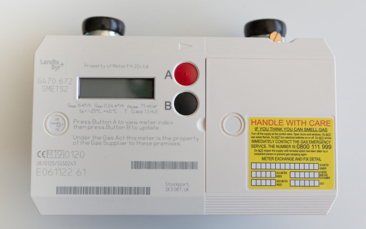 Photo of a smart gas meter before installation