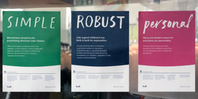 Bulb design principal posters - simple, robust, personal
