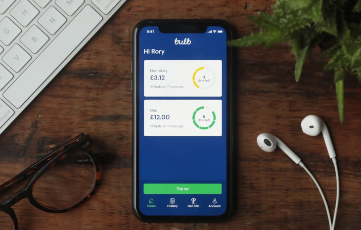 A picture of the Bulb Smart Pay As You Go app