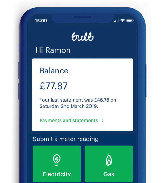 The Bulb app makes it easy to see your energy balance