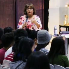 Pastor Cristina Sosso speaking during the 2019 Prophetic Conference in General Santos City, held at Christ Fellowship Church International in the Philippines.