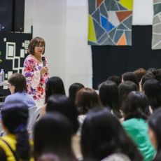 Cristina Sosso speaking at Christ Fellowship Church International (CCFI) in General Santos City, on February 2st, 2019.