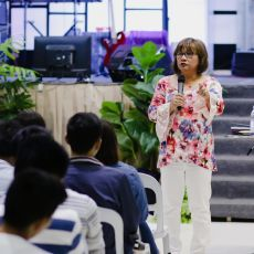 Cristina Sosso speaking at Christ Fellowship Church International (CCFI) in General Santos City