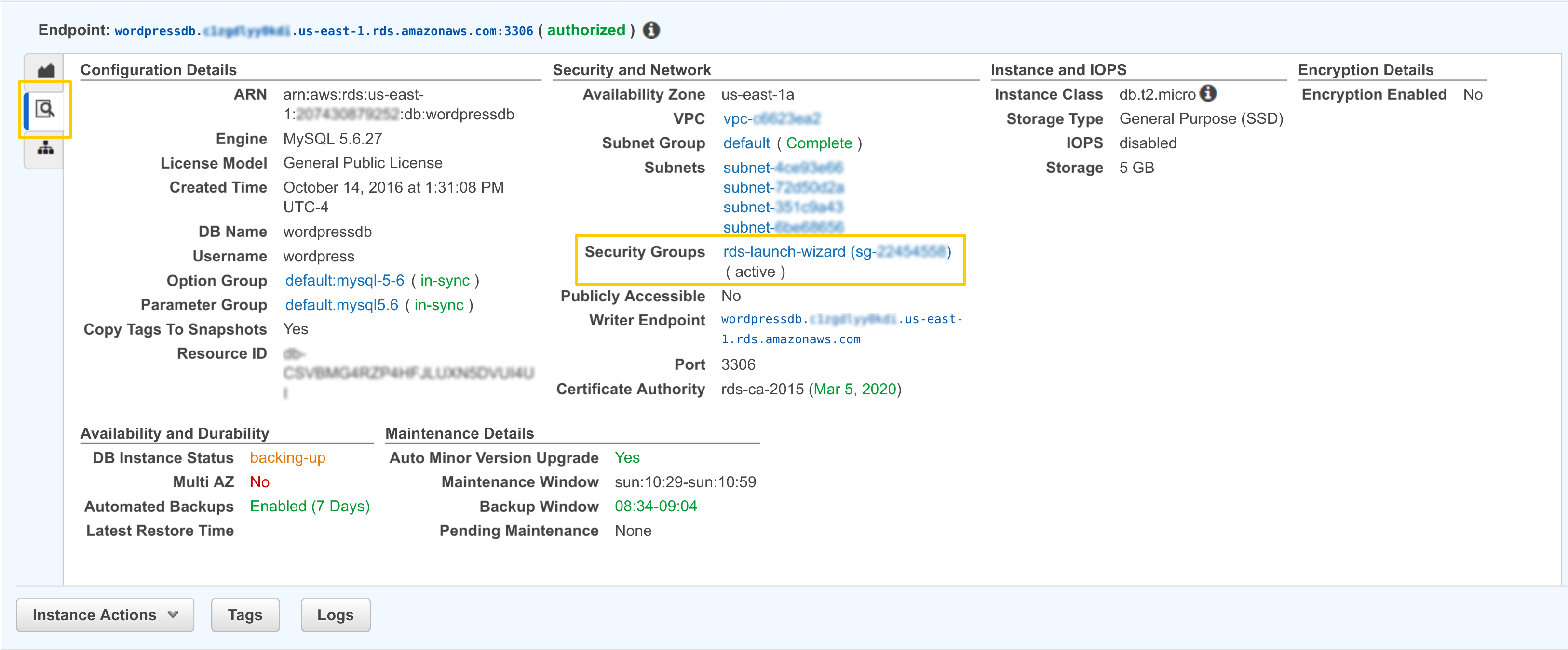 Elastrix Cloud Computing Blog | Setting up an external RDS database
