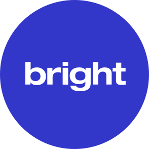 bright logo in blue circle