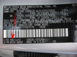toyota paint codes