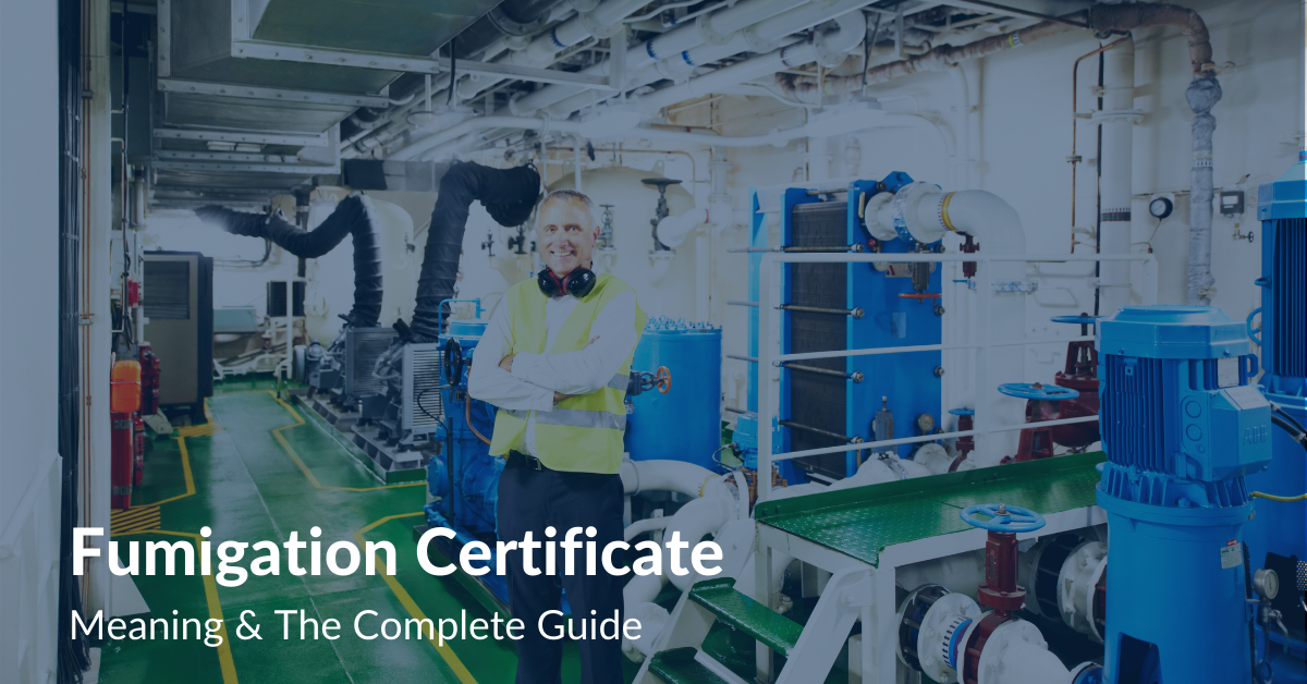 Fumigation Certificate Meaning & The complete guide