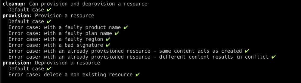 Grafton output deprovisioning resources
