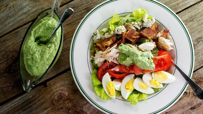 Rotisserie Chicken Cobb Salad with Avocado Ranch Dressing