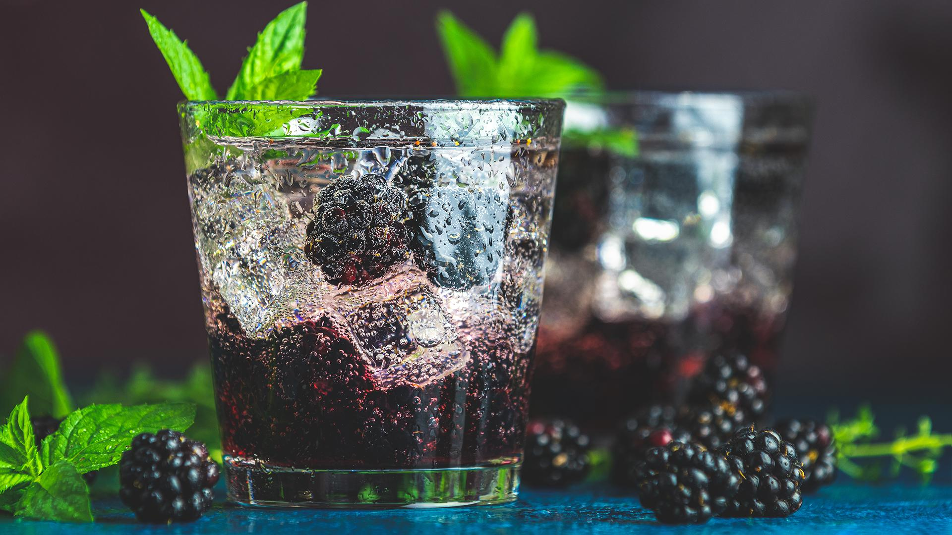 Gin Berry Smash Cocktail With Fresh Mint | John Cusimano