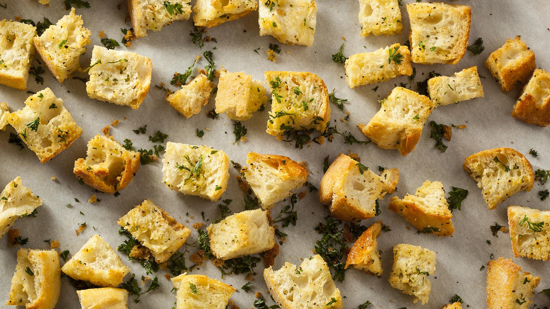 Cheesy Croutons