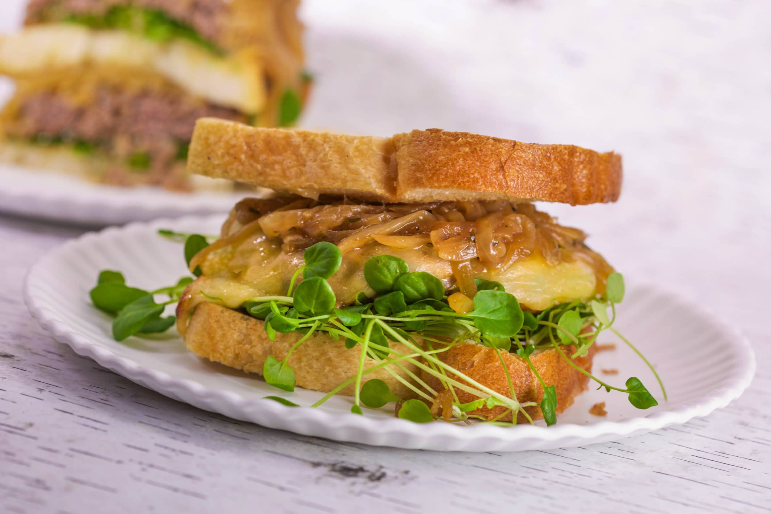 Buttery Burgers and Onions on Toast