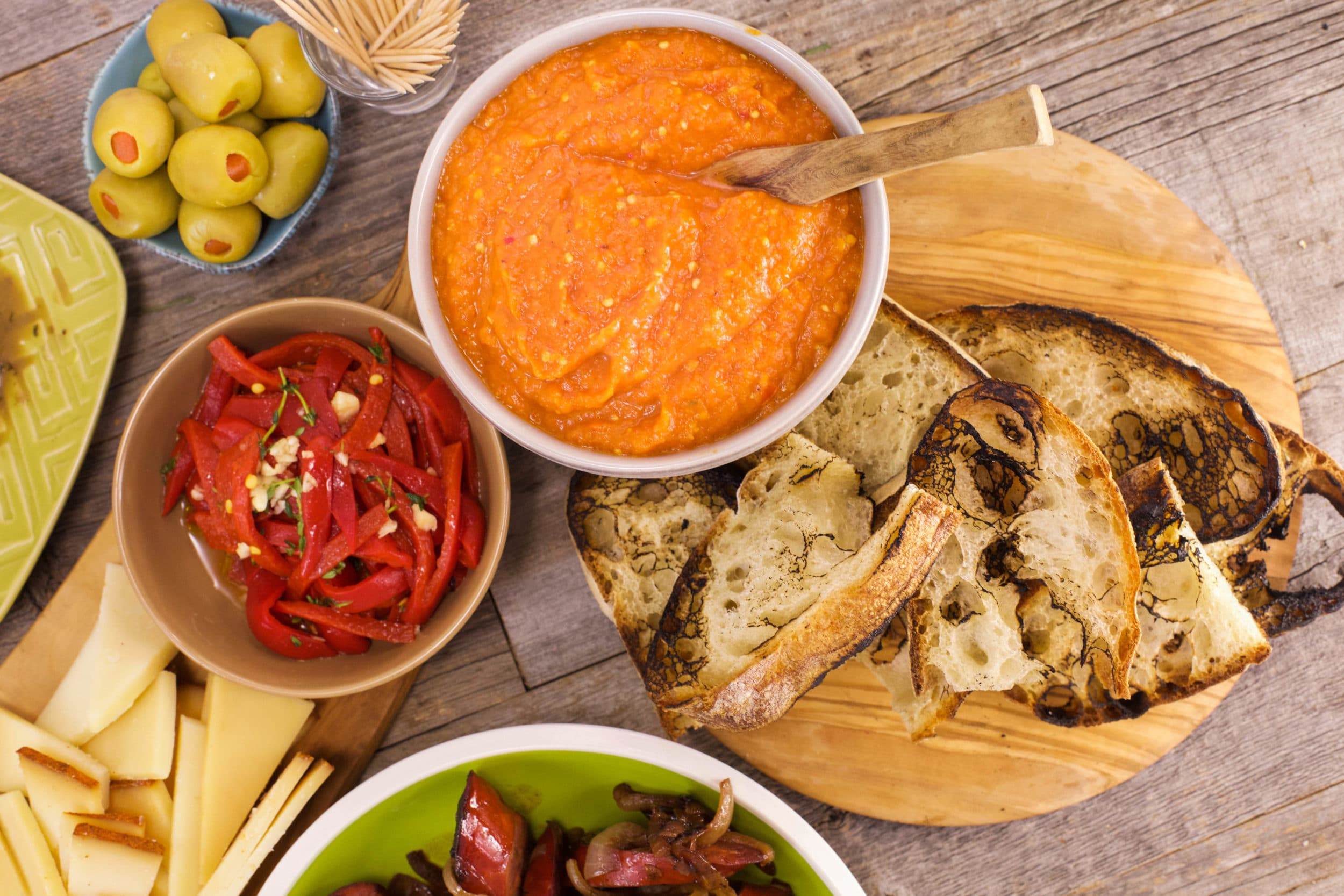 Ajvar and Charred Bread