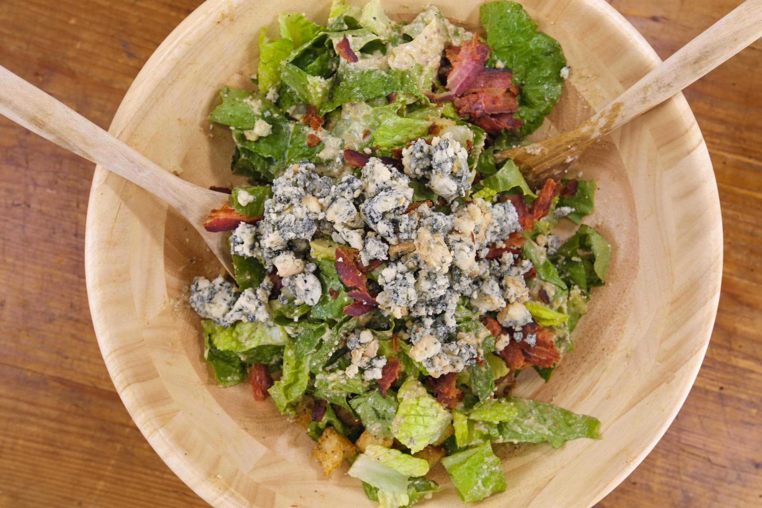 Bacon and Blue Caesar Salad