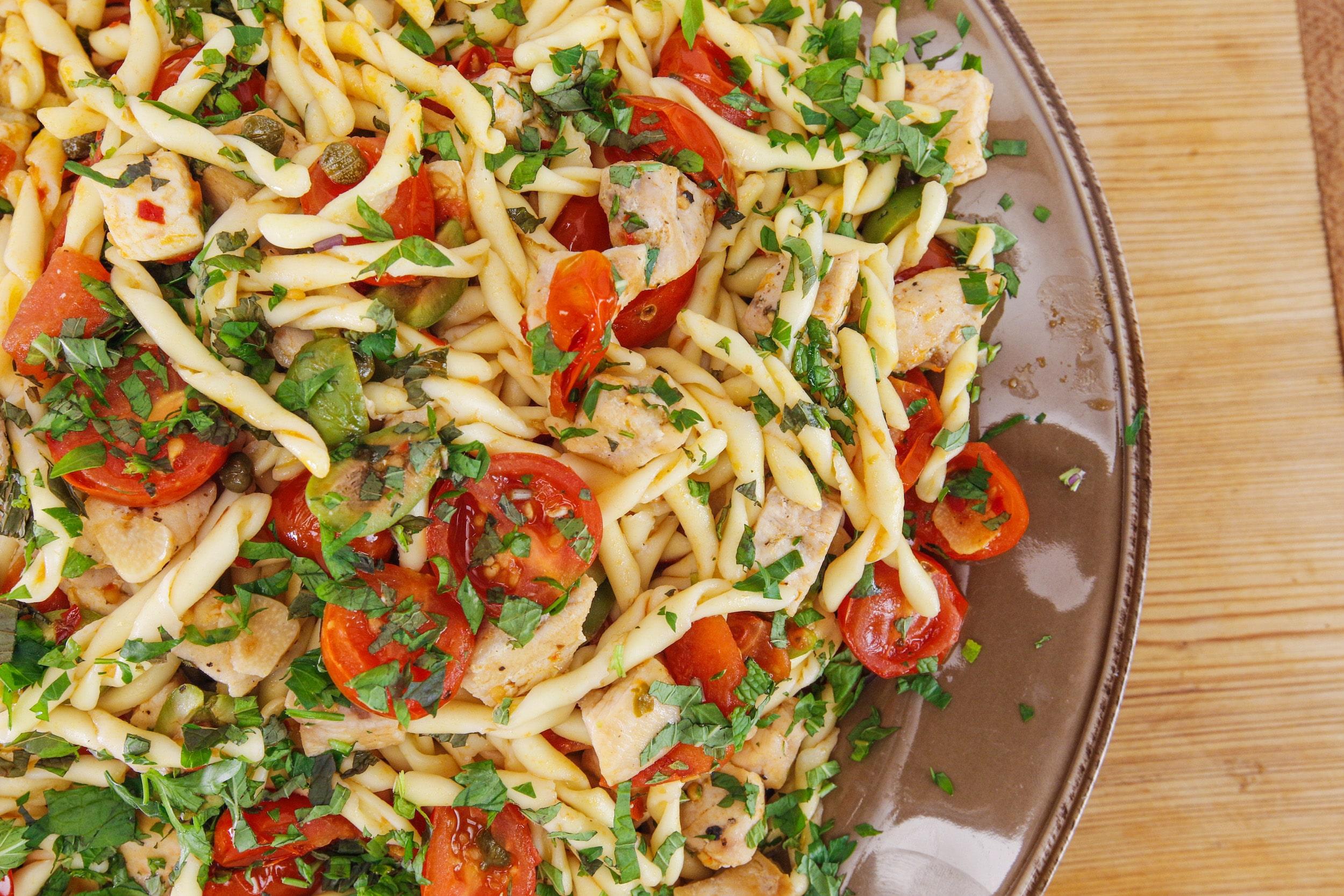 Rachael's Swordfish Pasta with Fresh Tomatoes