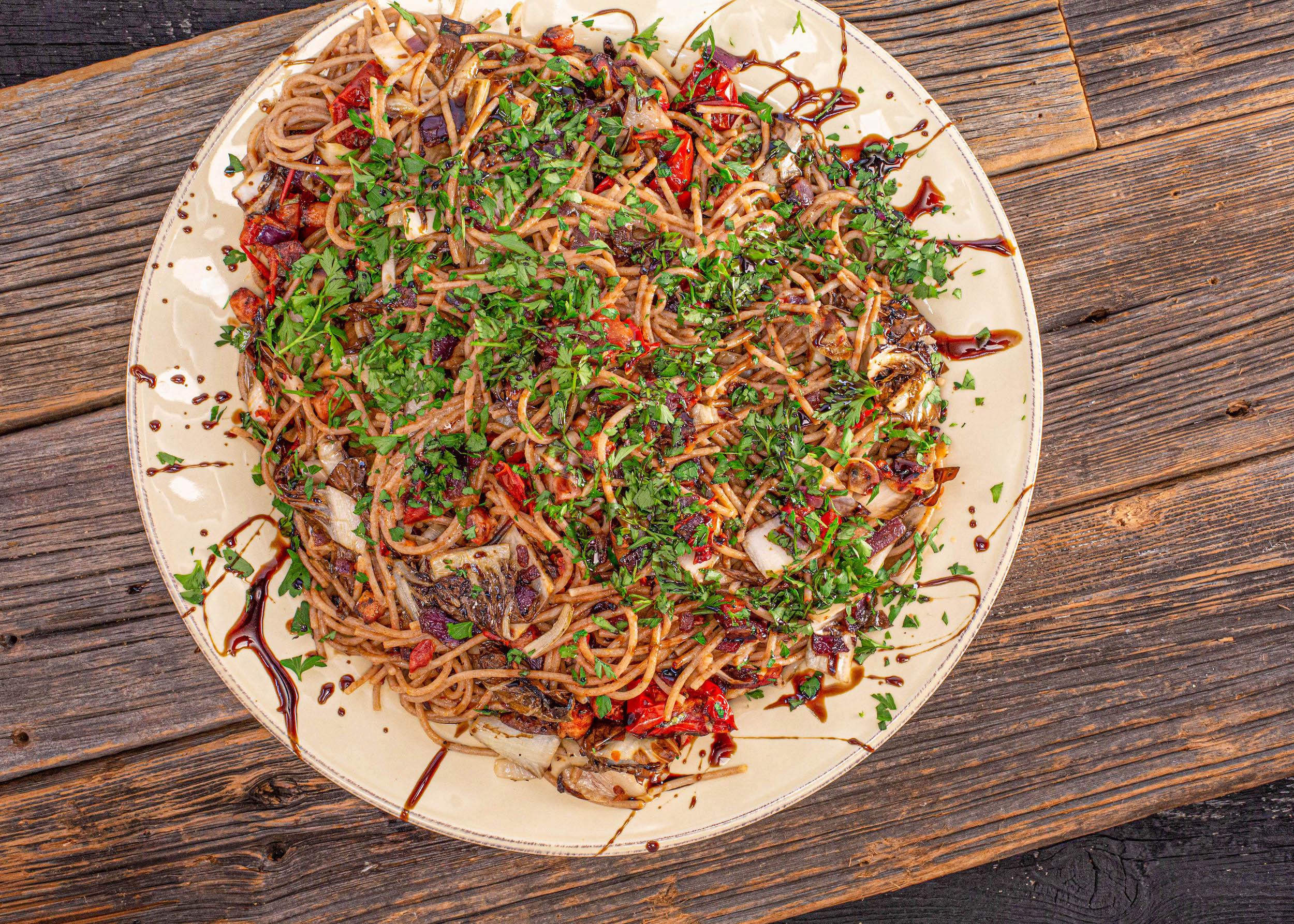 Bacon, Radicchio and Semi-Dried Tomato Pasta