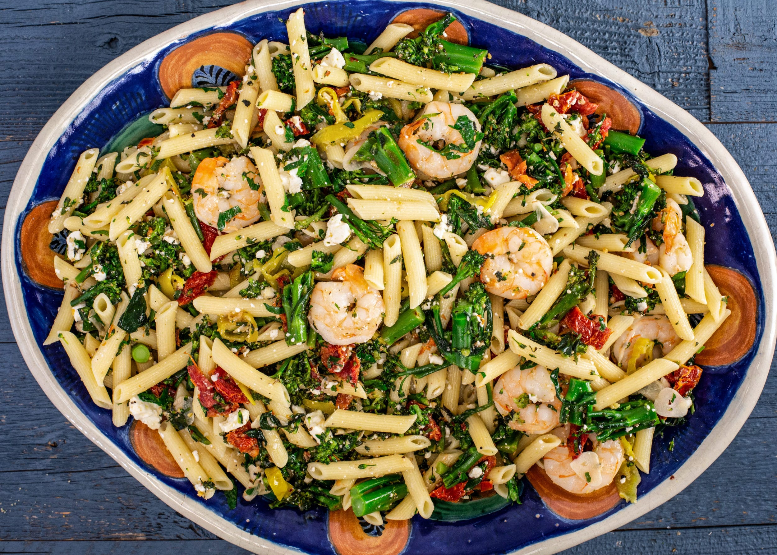Rachael's Sundried Tomato and Broccolini Pasta with Shrimp