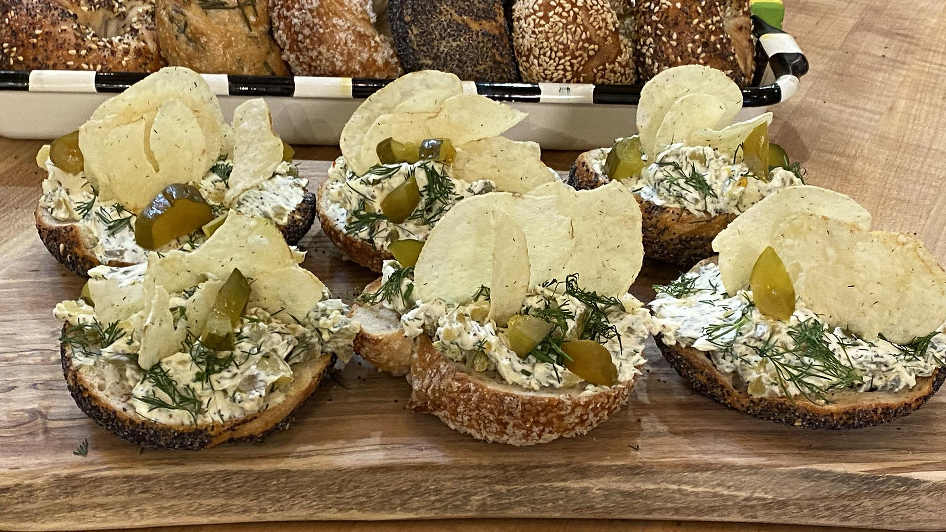 Dill Pickle Cream Cheese Bagels | Bagel Lab