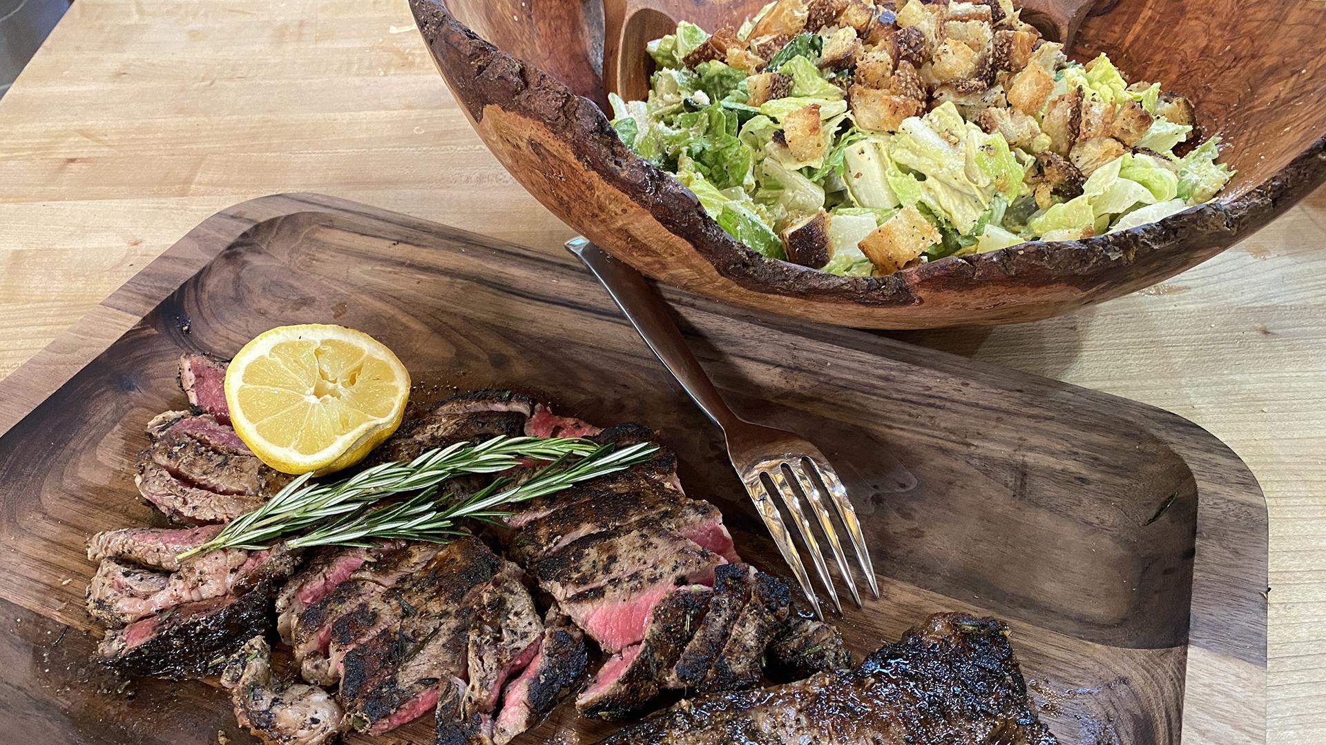 Beef Brutus   Steak Caesar Salad