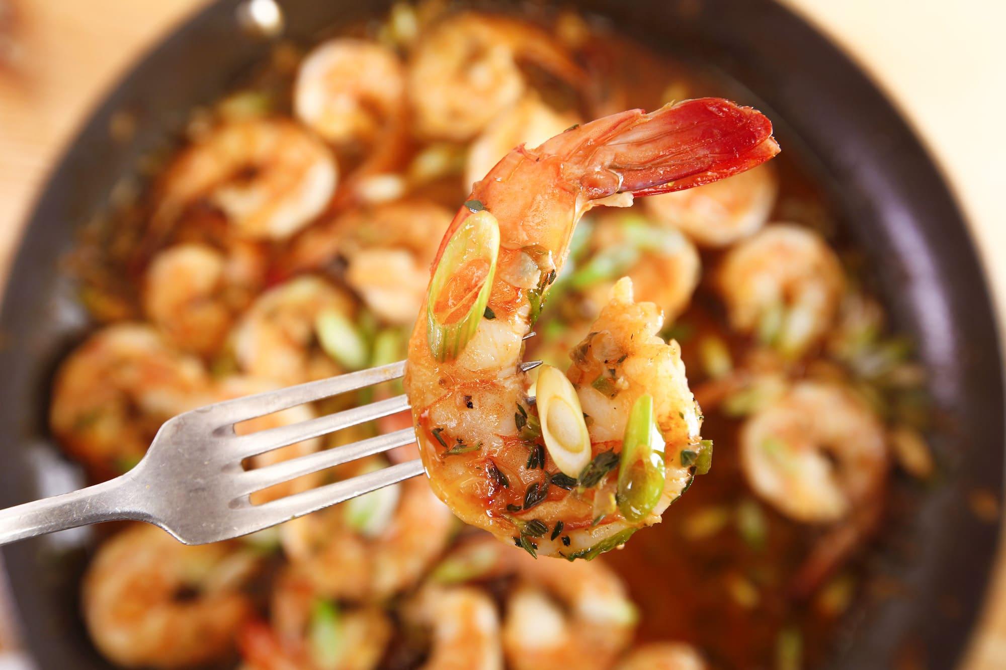 Rachael's Boiler Maker Shrimp Scampi