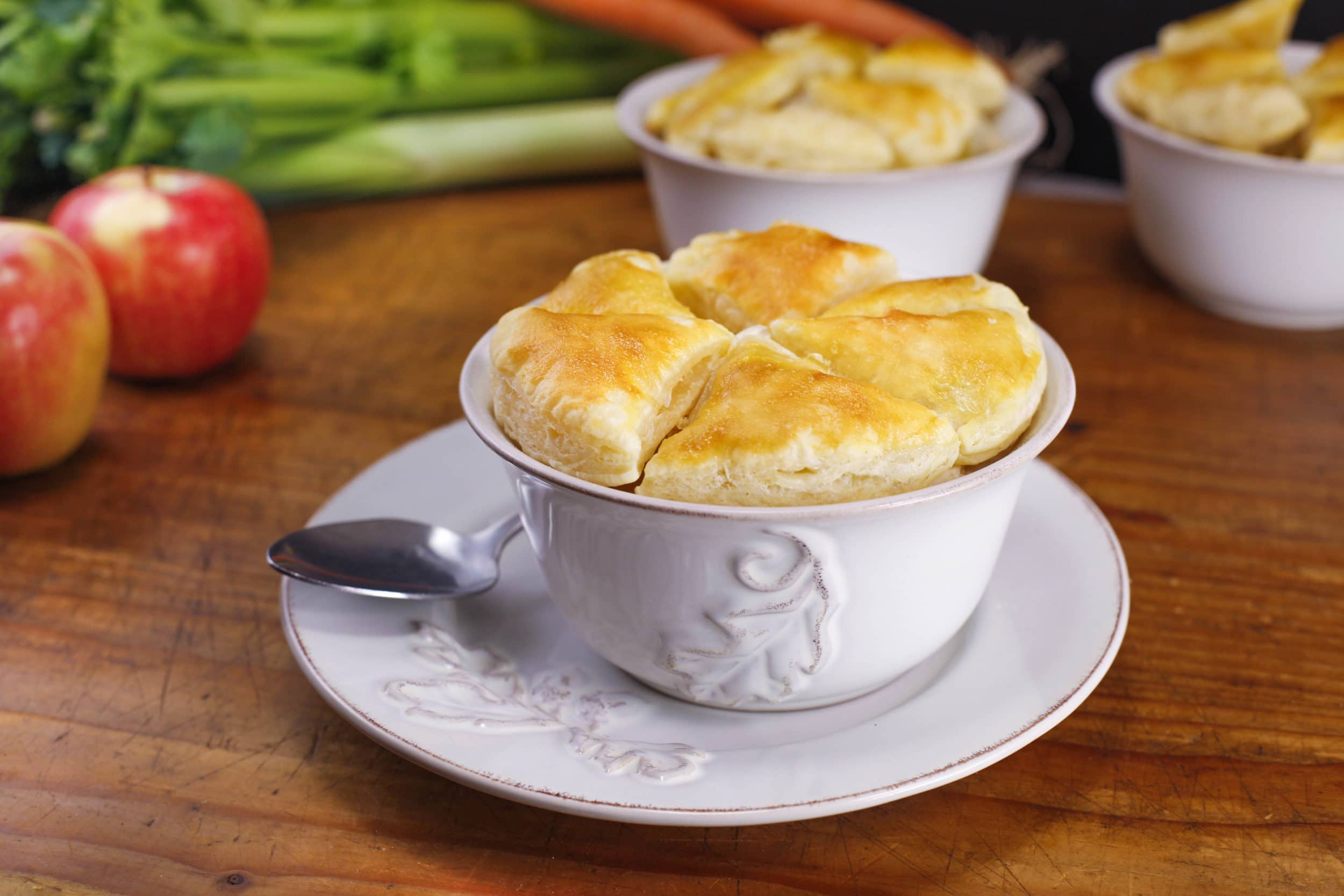 Chicken Pot Pie with Apples and Leeks