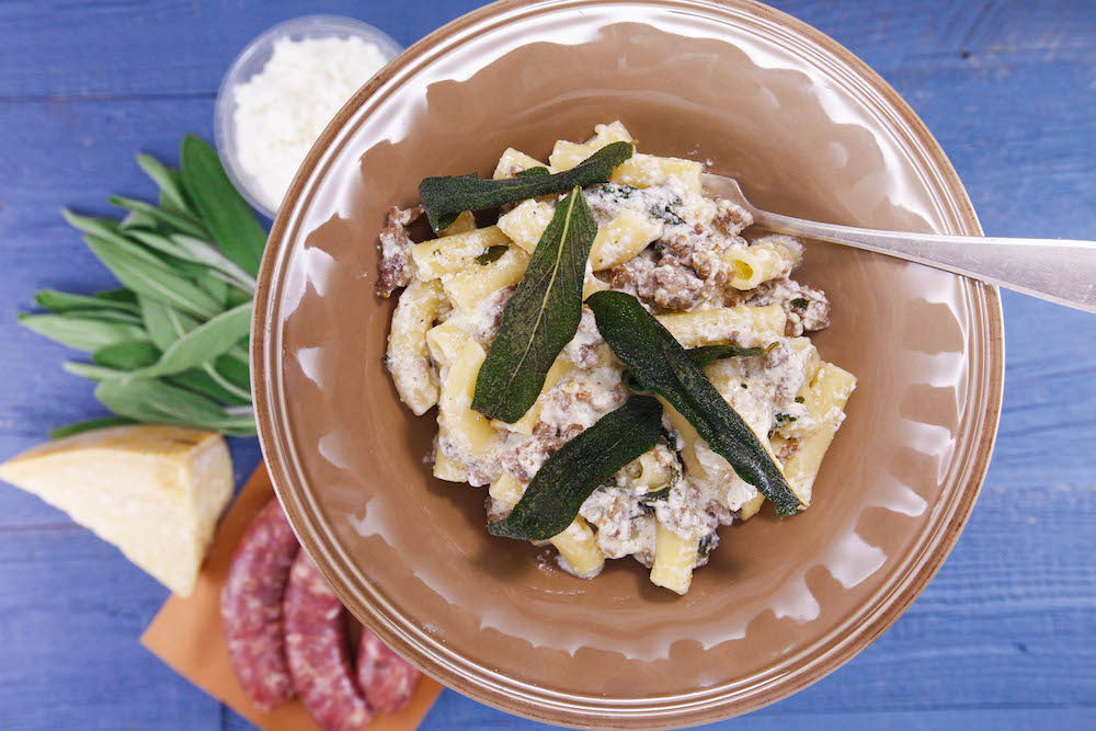 Brown Butter and Sage Pasta with Sausage