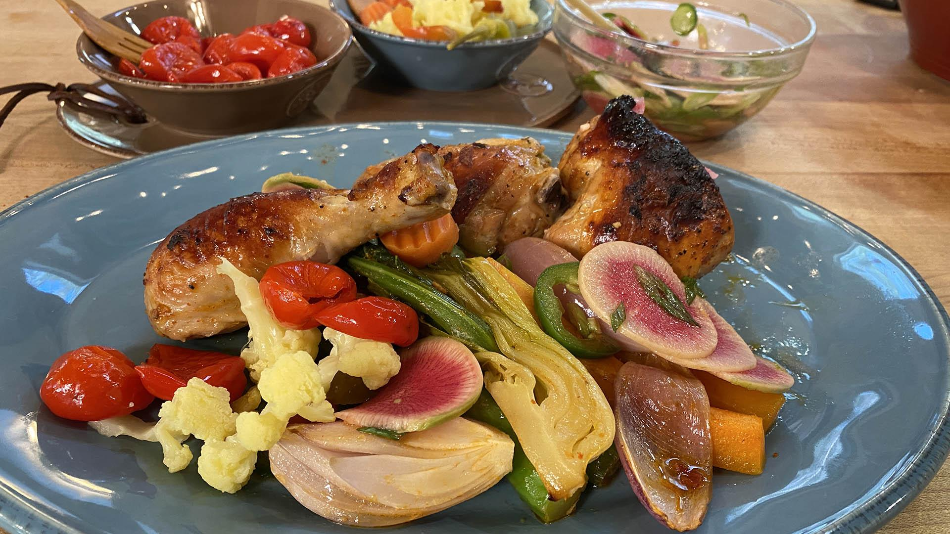 Sheet Pan Supper: Korean-Style Chicken and Vegetables