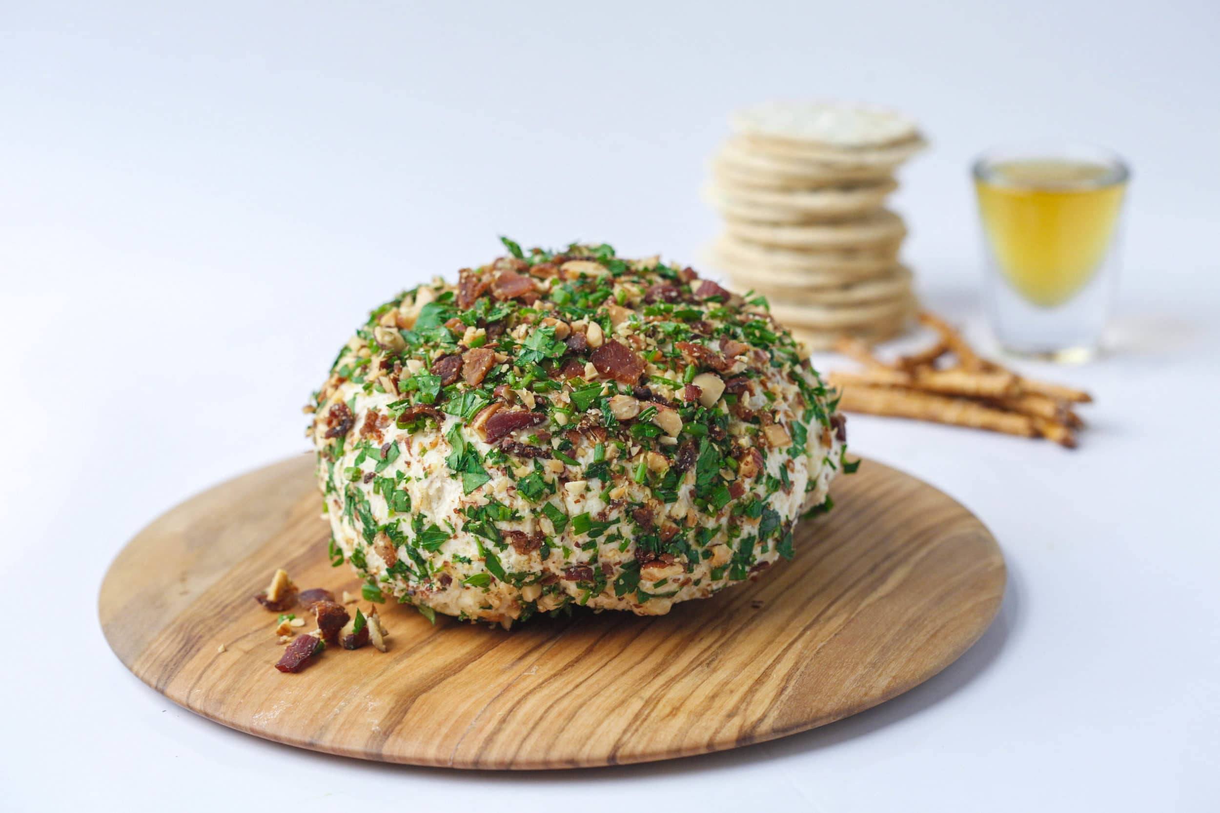 Whiskey-Bacon-Cheddar Cheese Ball