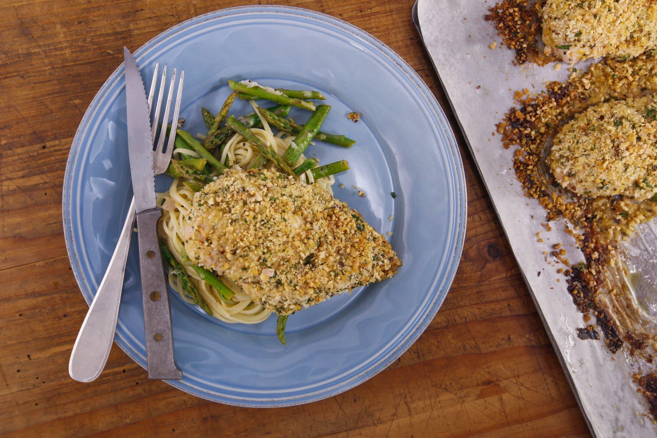Lemon-Chile Linguine with Asparagus