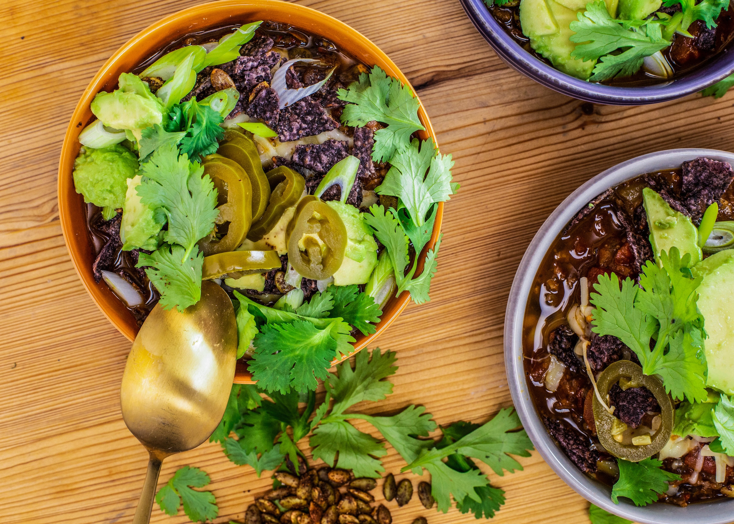 Rachael's Spicy Meat, Bean and Pumpkin Spice Chili