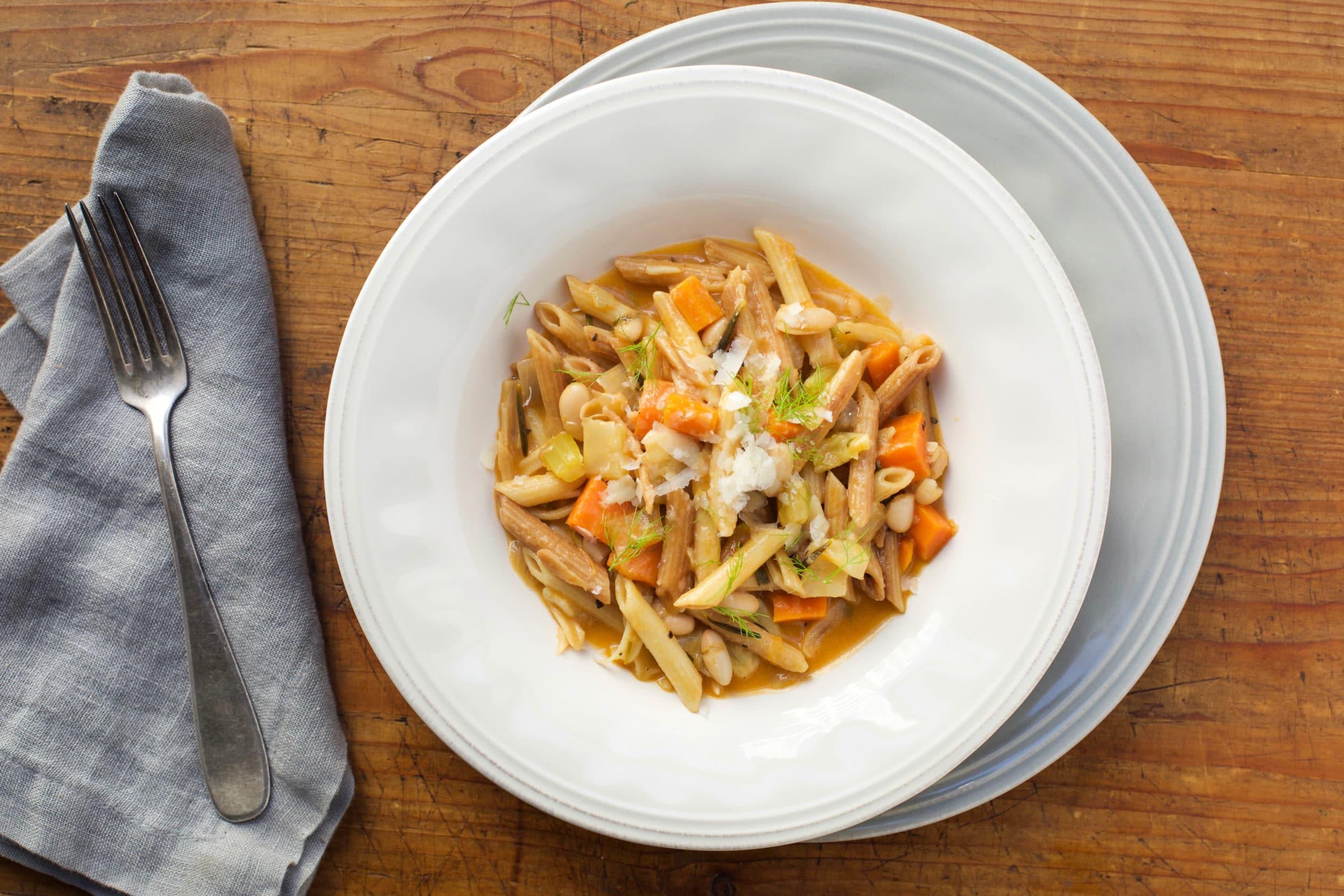 Pasta e Fagioli (Cooked in the Style of Risotto - Pasta Risottata)