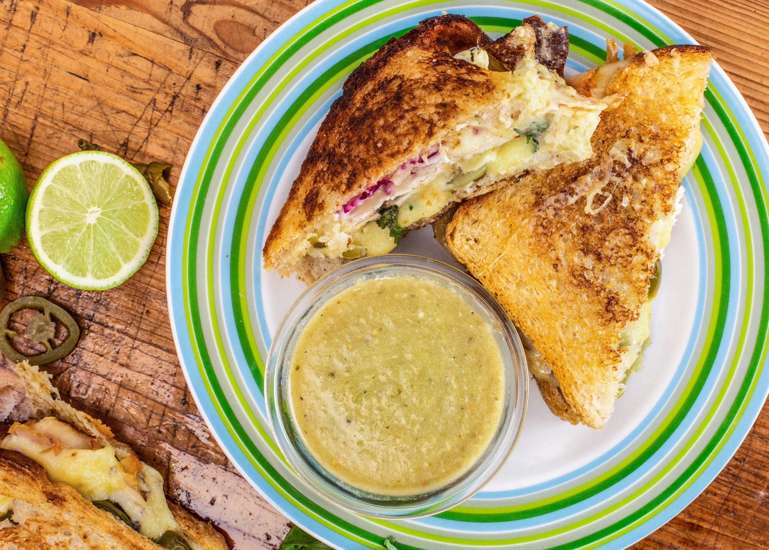 Rachael's Turkey Grilled Cheese with Suiza Dipper