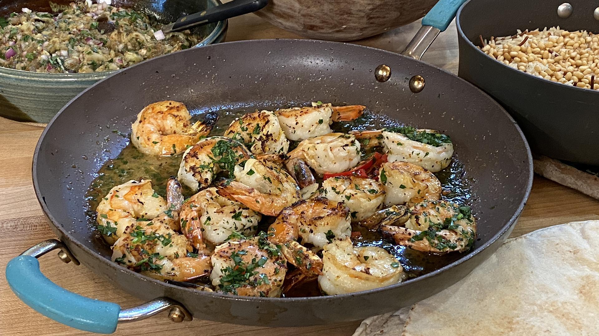 Greek-Style Shrimp Scampi with Ouzo