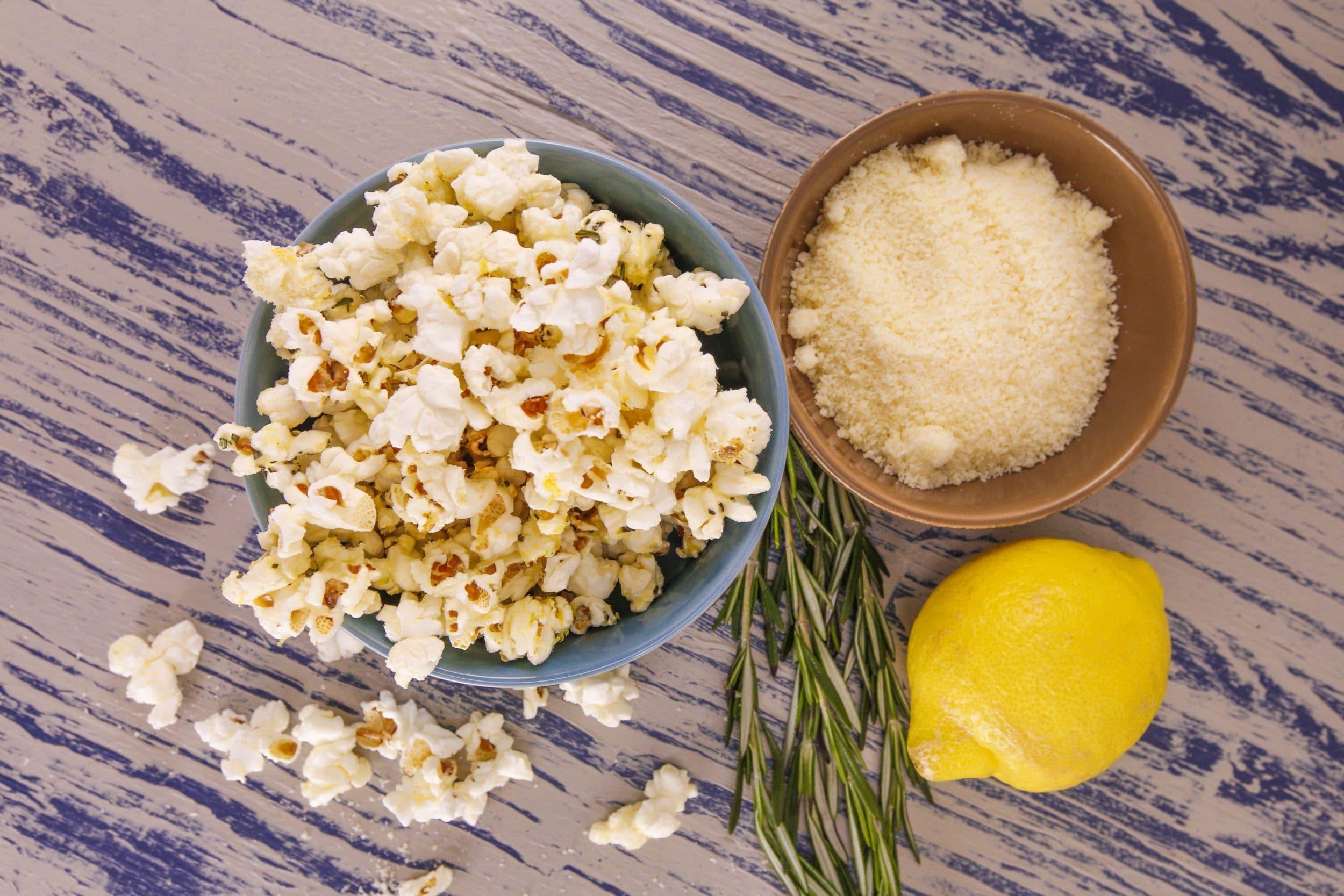 Rosemary-Parm Popcorn