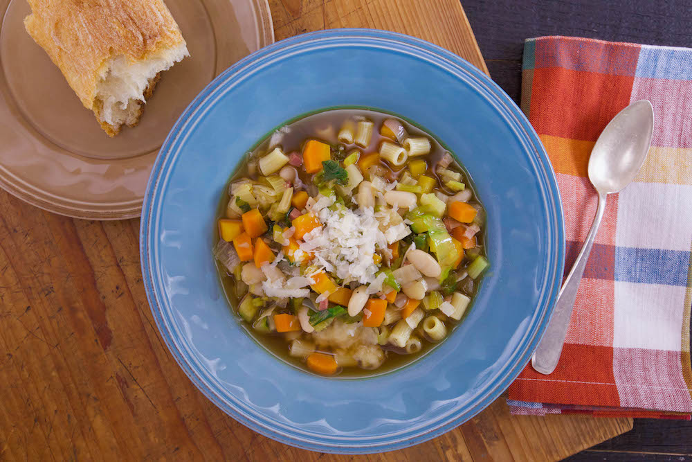 Minestrone Soup with Escarole, Beans and Pasta