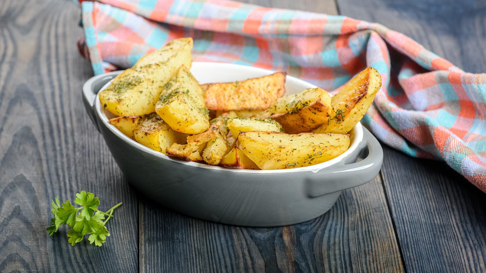 Roasted Potato Sticks with Rosemary