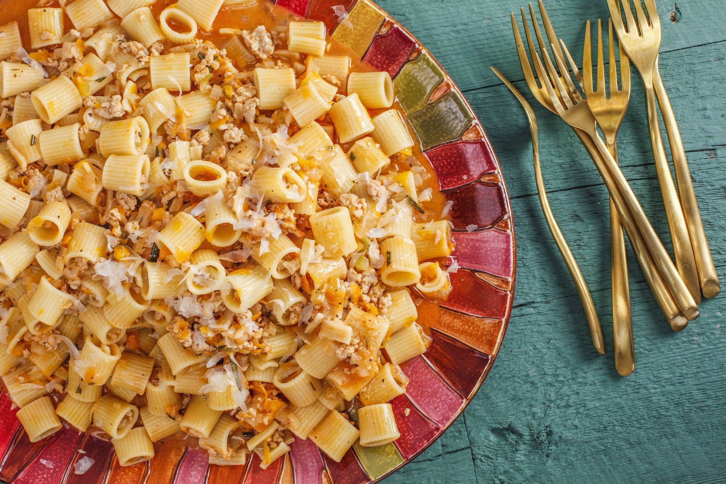 Rachael's Chicken and Vegetable Ragu with Rigatoni